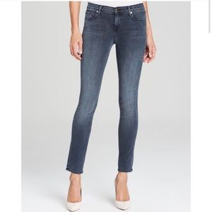 J brand high rise stacked skinny indigo jeans 4